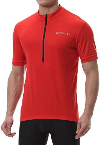 Spotti Basics Men's Short Sleeve Cycling Jersey - Bike Biking Shirt
