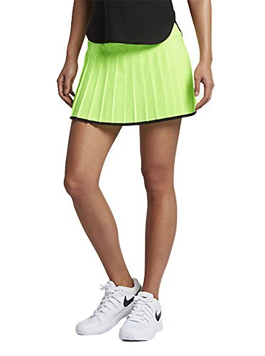 NIKE Women's Court Victory Tennis Skirt 728773 (Medium, Ghost Green/Black) (Court Womens Skirt)