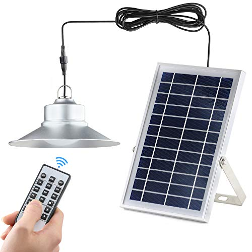 Kyson Indoor Vintage Solar Shed Light 5200aMH Aluminum Alloy Hanging Barn Light with Remote Control Also for Outdoor Use IP65