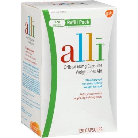 alli Weight Loss Aid Orlistat 60 mg Capsules,120 Count by alli by alli