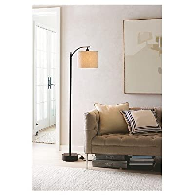 Threshold Black Downbridge Floor Lamp with Tan Shade - Brand New in box. The product ships with all relevant accessories - living-room-decor, living-room, floor-lamps - 41GhQ Cuw L. SS400  -
