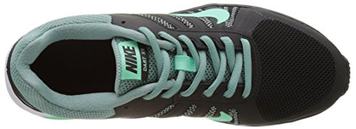 NIKE Womens Dart 12 Running Shoe Black/Green Glow/Cannon e4sBdX