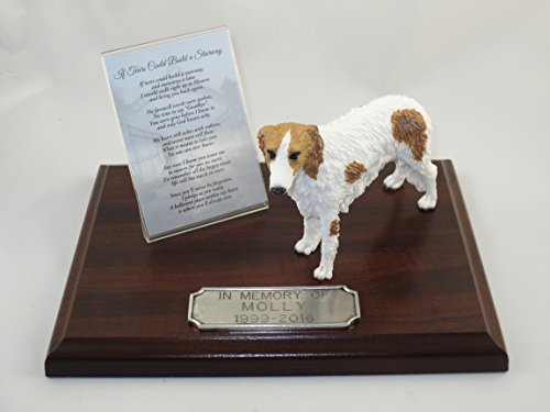 Figurine Borzoi (Beautiful Walnut Finished Personalized Memorial Plaque With Borzoi Figurine)