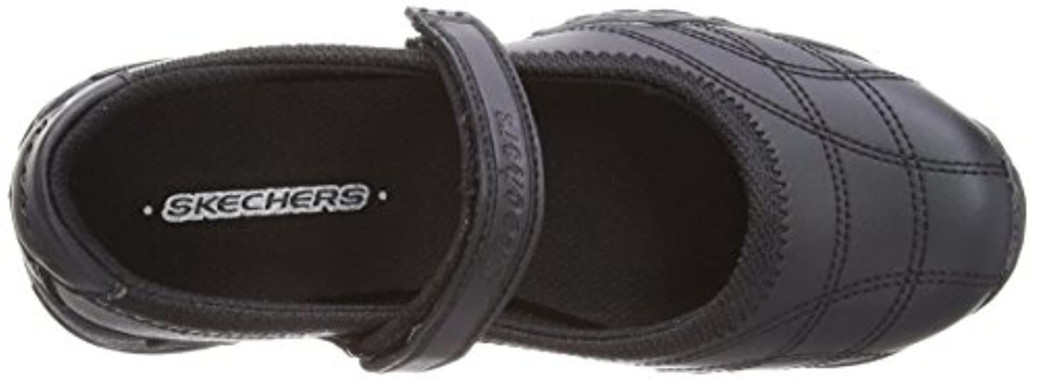 Skechers Girls Velocity Pouty Ballet Flats 81264L Black 1.5 UK Child, 34 EU
