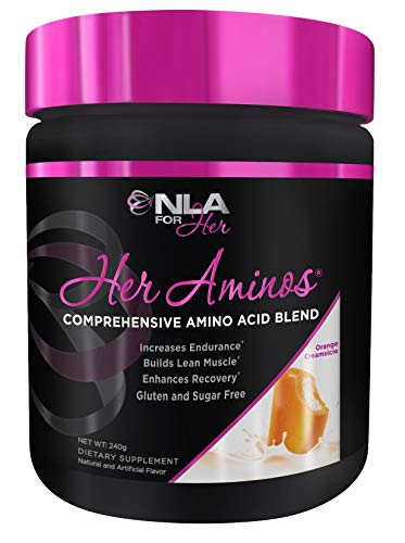 - NLA for Her - Her Aminos - Comprehensive Amino Acid Blend - Supports Increased Endurance, Building Lean Muscle, Enhanced Recovery - Orange Creamsicle - 254 Grams