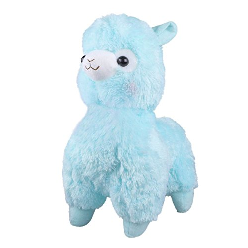 TOLLION Cuddly Soft Blue Alpaca Llama Lamb Toy -7