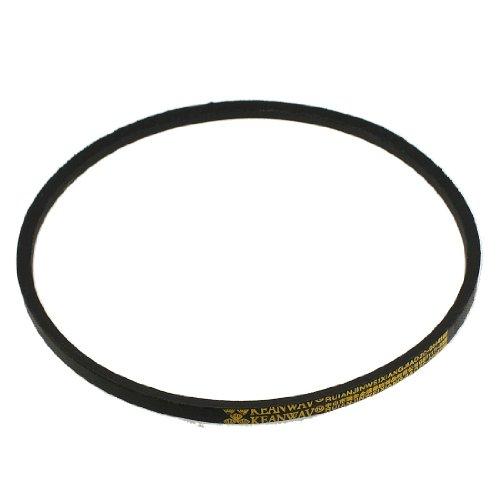 uxcell Black Inner Girth 34 Rubber M Type Wedge Rope Vee Belt