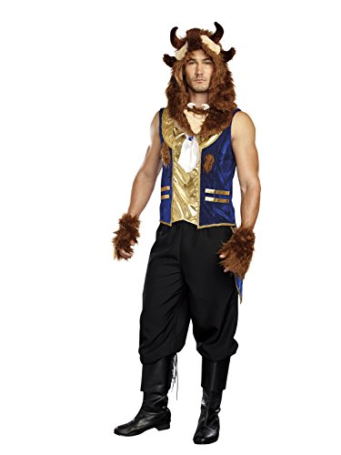 Costume Man Beast (Dreamgirl Men's The Brute, Multi,)