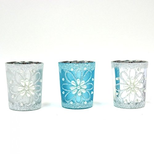 Holiday Essentials Candle Votives with Glitter by