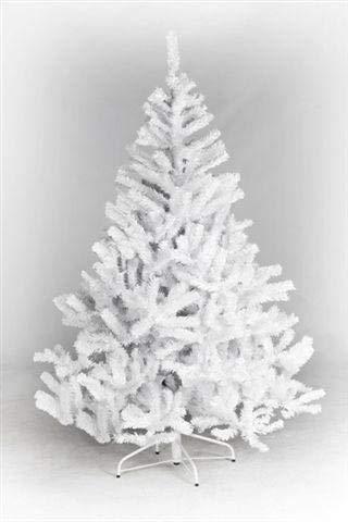 Kunstpflanzen-discount  Künstlicher weisser Weihnachtsbaum Oslo, Höhe ca. 180cm, mit 723 Tannennadeln, schwerentflammbar