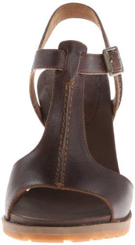 Sandalias Zapatillas Para Mujer Timberland Piel Mod. EK Strat HTS Sandal 8102A Coronel Marrón.
