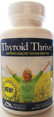 RidgeCrest Herbals Thyroid Thrive Herbal Vegetarian Capsules, 60 Count