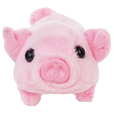 Walking Pet Pig | Wiggling, Snorting, Oinking | Battery Operated | Electronic Piggy.: Toys & Games