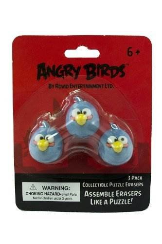 Bird Eraser - Angry Birds - Puzzle Erasers 3 Pack - BLUE BIRD - 07044 - The In Thing