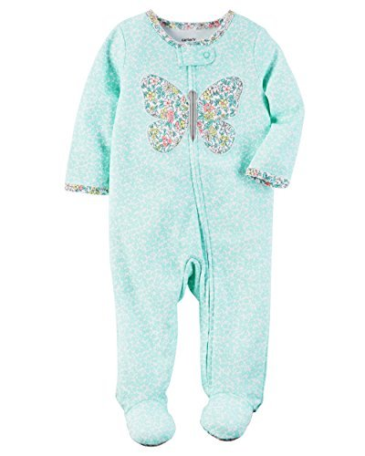 Carter's Baby Girls' Floral Butterfly Sleep & Play Preemie (Preemie Pajamas)