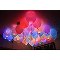 Party Propz Led Balloons Set Of 25 Pcs For Neon Party,birthday decoration,party supplies,birthday party decoration…