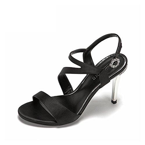 Sexy Super Tacones Altos Con Zapatos De Boca Poco Profundas/Moda Rhinestone Hebilla Sandalias De Tacón Fino B