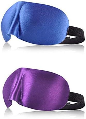 applestore Sleep Eye Mask Contoured 3d Velcro Adjustable Elastic Strap 924cm Breathable 2-pack
