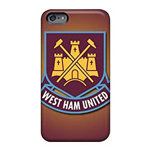 Shock-Absorbing Cell-phone Hard Cover For Apple Iphone 6 Plus (bdp21509ZyBg) Support Personal Customs Vivid West Ham United Fc Pattern