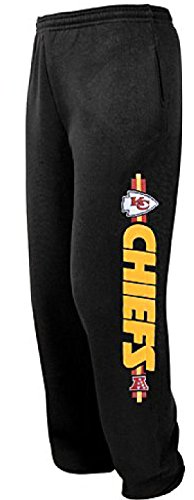 (Kansas City Chiefs Black Critical Victory 6 Open Bottom Sweatpants by VF (S=30-31))