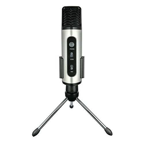 TKGOU Portable Microphone, Iphone Wireless Karaoke microphone with pop filter & tripod microphone stand, great for Vocal, Recording,Facebook Chat(GM991S) by TKGOU