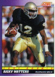 1991 Score Ricky Watters Rookie Football Card  575 32027456a