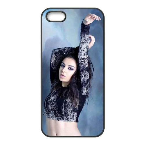 Charli Xcx 004 coque iPhone 5 5S cellulaire cas coque de téléphone cas téléphone cellulaire noir couvercle EOKXLLNCD22747