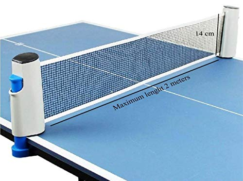 Prime Deals Innovative Retractable Table-Tennis Net with Adjustable Length and Push Clamps, Portable and Fits Most Tables Price & Reviews