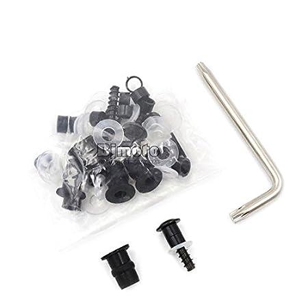 Juego de tornillos universales para carenado de motocicleta aluminio CNC juego de accesorios de fijaci/ón BJ Global