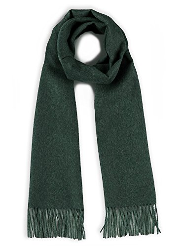 Luxury 100% Pure Baby Alpaca Wool Scarf for Men & Women - A Great Gift Idea in Many Colors (Evergreen) ()