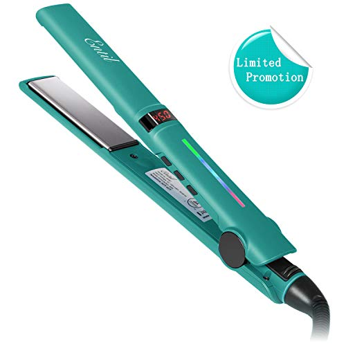 [Limited Promotion] Entil Hair Straightener Flat Iron with 1 Inch Ionic Ceramic Titanium Plates Upgraded Professional Salon Tool Adjustable Temperature Fast Heating Up