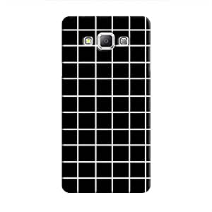 Cover It Up - Black Grid Galaxy A8Hard Case
