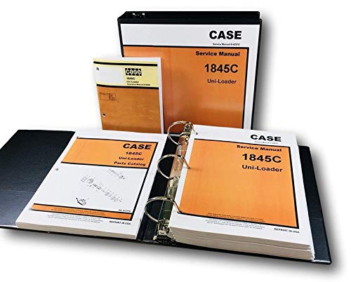 (Case 1845C Uni-Loader Skid Steer Service Parts Operators Manual)