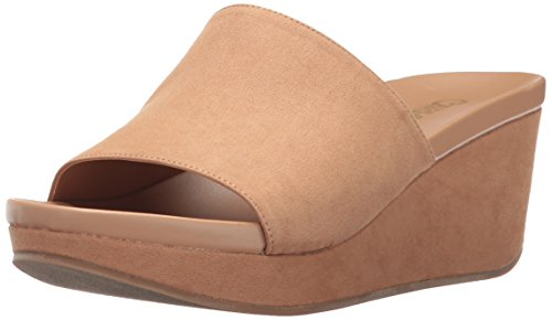 Price comparison product image Carlos by Carlos Santana Women's DELPHINA Wedge Sandal,  Brulee,  6.5 M M US