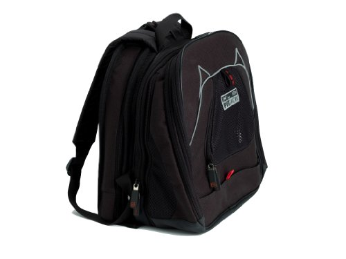 Petego Pet at Work Small Pet Carrier with Pet Dome Crate, Black, My Pet Supplies