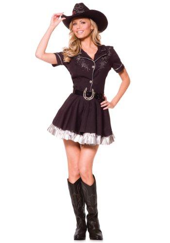 Underwraps Costumes Women's Sexy Cowgirl Costume - Rhinestone, Black, Small for $<!--$26.32-->