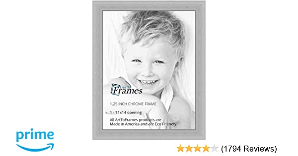 Amazon.com - ArtToFrames 11x14 inch Chrome Stainless Steel Picture ...