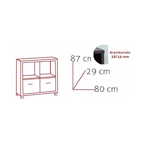 estanter/ía Verona 3 baldas+2puertas wengue