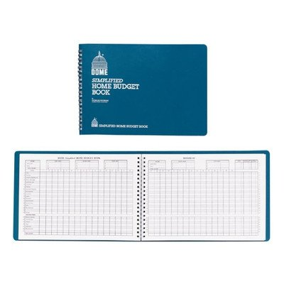 Home Budget Book, 64 Pages, 10-1/2''x7-1/2'', Teal [Set of 2]