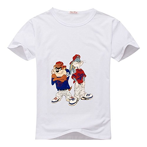 Sun-Tshirt Old School Bugs Bunny Taz Men's Classic Short Sleeve Cotton T Shirt (Taz Bugs)