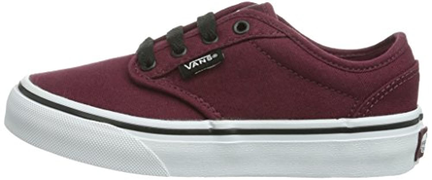 Vans Atwood, Unisex Kids' Low-Top Sneakers, Red ((Canvas) Oxblood/Black), 1 Child UK (32 EU)