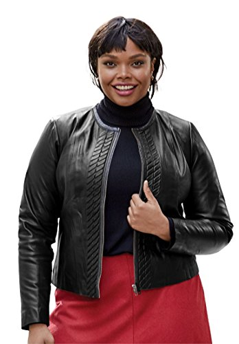 Jessica-London-Womens-Plus-Size-Collarless-Leather-Shrug