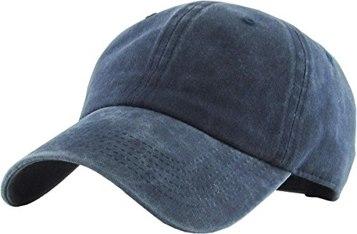 Cap Low Profile Supreme - KB-PG-Low 2-W.Navy Classic Washed Pigment Cotton Dad Hat Adjustable Unconstructed Plain Cap