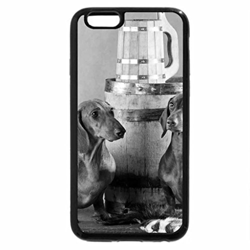 iPhone 6S Case, iPhone 6 Case (Black & White) - DOGS