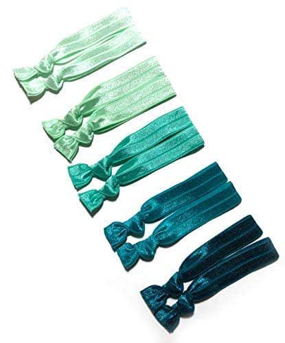 green ombre hair ties