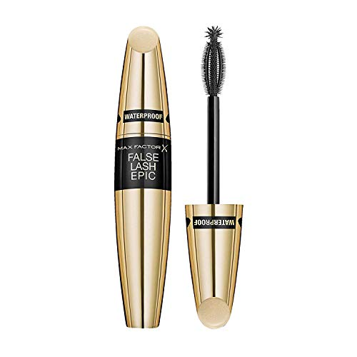 Black Mascara Max Factor (2 x Max Factor False Lash Epic Waterproof Mascara Black 13 ml)