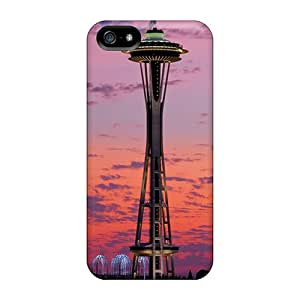 CenterH Snap On Hard Case Cover Space Needle Protector For Iphone 5/5s