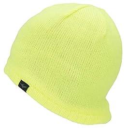 SealSkinz Waterproof Beanie – Yellow, S/M/Water Resistant Repellent Weatherproof Wet Weather Stay Dry Warm Unisex Man…