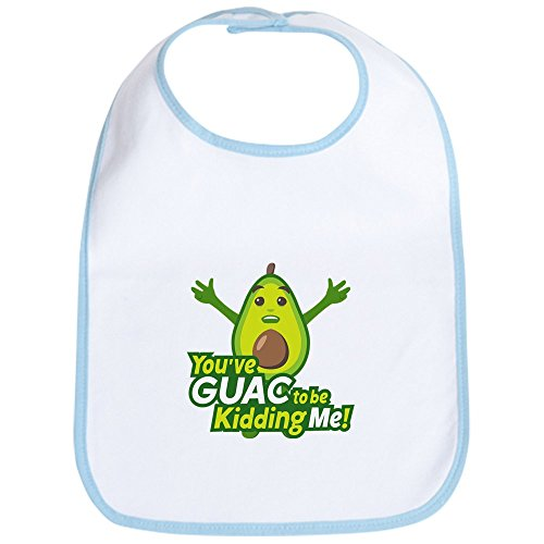 CafePress Emoji Avocado Guac Kidding Me Cute Cloth Baby Bib, Toddler Bib