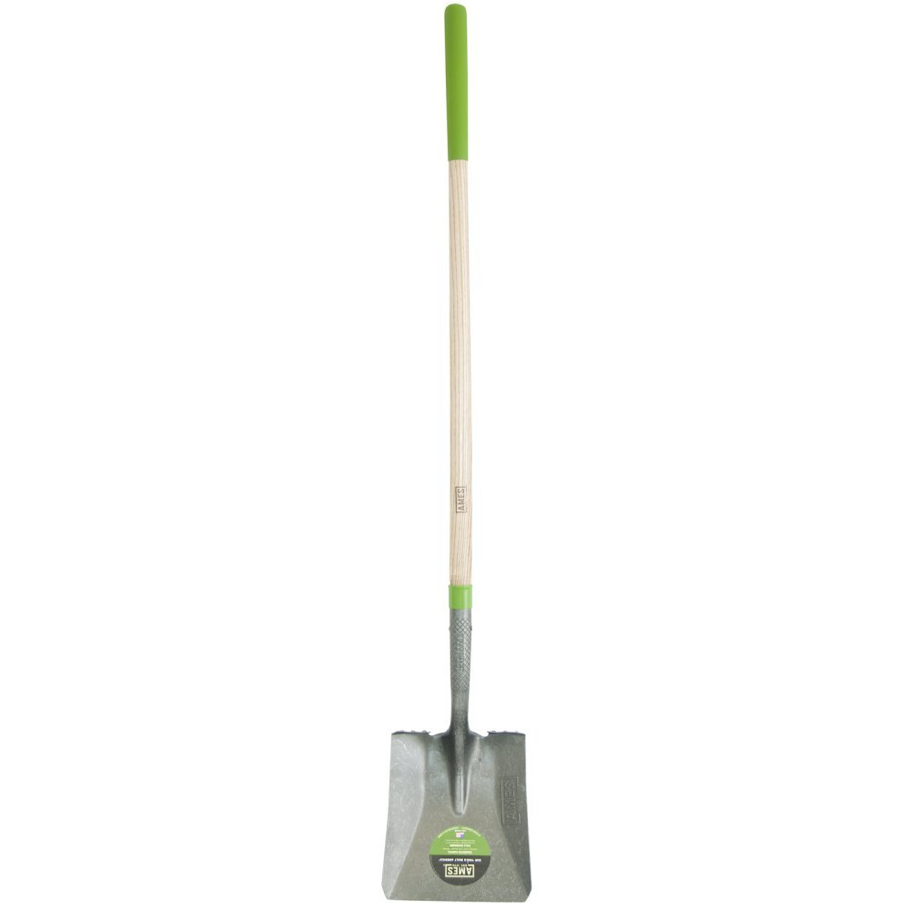 Ames 2535700 5 in. X 9.75 in. X 61 in. Wood Handle Square Point Shovel